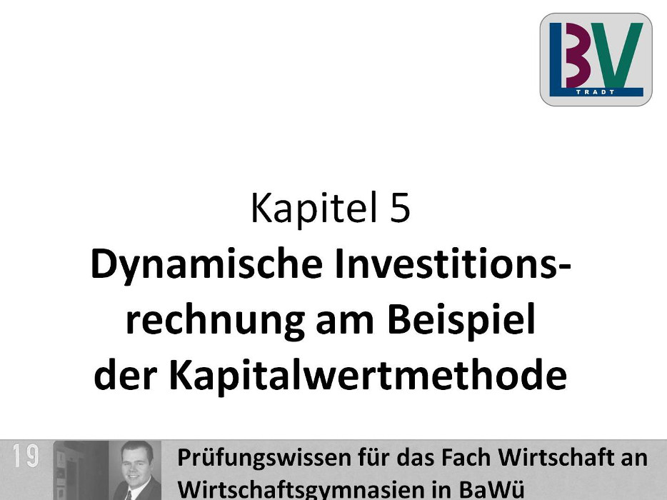 Kapitalwertmethode [WG K05 T10]